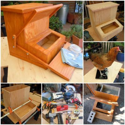 "Build a Treadle Chicken Feeder Project Homesteading  - The Homestead Survival .Com     ""Please Share This Pin"""