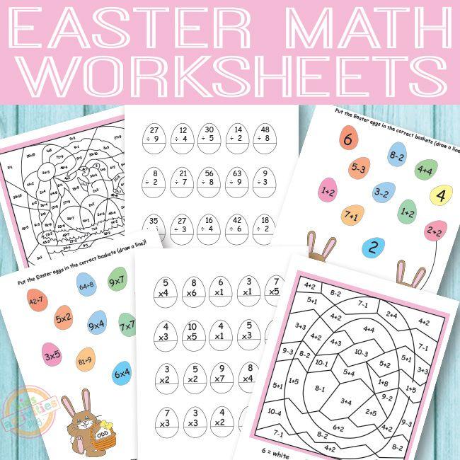 Easter Math Worksheets