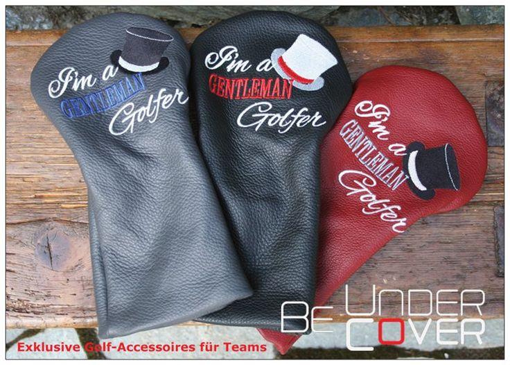 Echt Leder Golf Headcover mit Stickerei