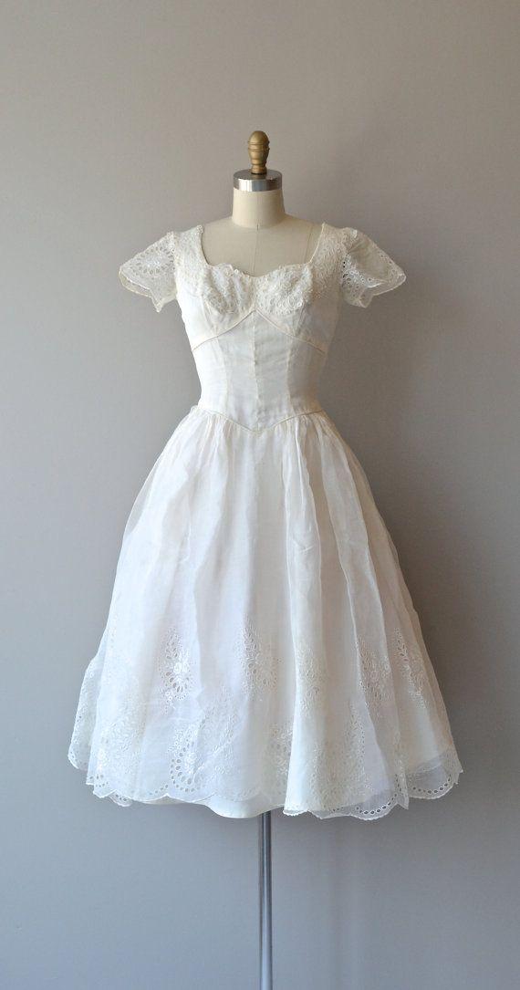 Unter Engeln Hochzeitskleid Jahrgang 1940er Jahren von DearGolden