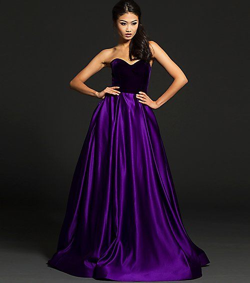 Stunning Purple And Lavender Mermaid Ball Gowns