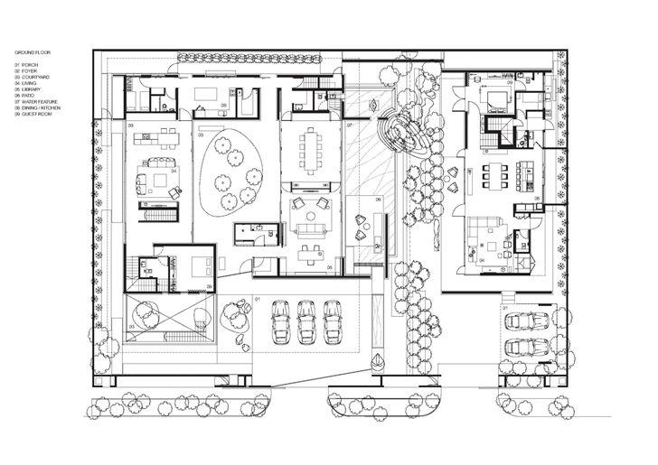 Modern chinese house layout