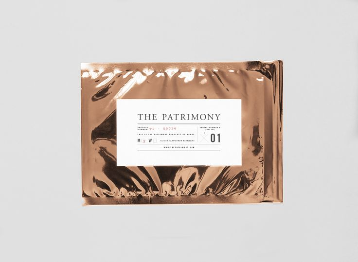 The Patrimony, rose gold foil packaging
