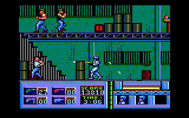 Robocop (Ocean, 1988). Platformer / shooter, also published on many platforms.