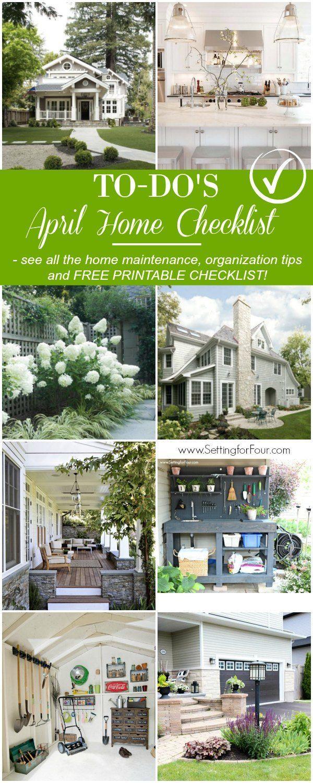 April Home Checklist Home Improvement Tips Home Maintenance Diy Home Improvement Home Improvement