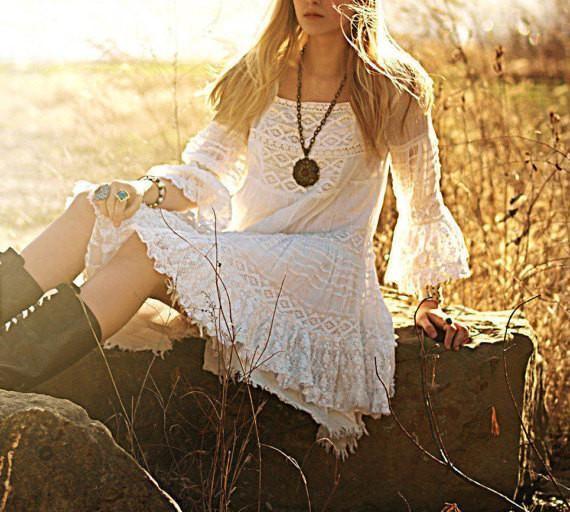 Angel Lace bohemian dress