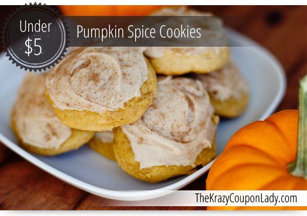 Desserts Under $5: Pumpkin Spice Cookies