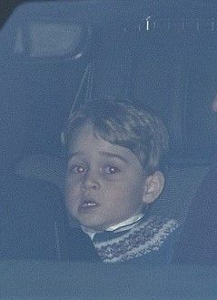Princes George leaving The Queen's Pre Christmas Lunch with her parents ll 20 December 2017.