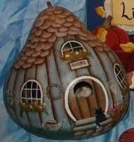 Gourd house pinterest hand painted gourds painted gourds and