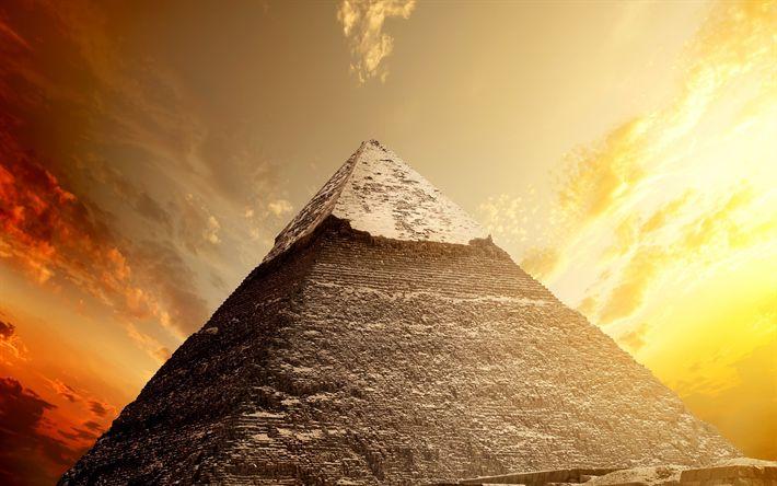 Lataa kuva Egyptin pyramidit, Kairo, Egypti, desert, hiekka, sunset, pyramidi
