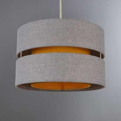 8 best lighting images on pinterest ceiling lamps ceiling lights dunelm frea lennox luxurious tweed ochre yellow cotton ceiling light shade aloadofball Images