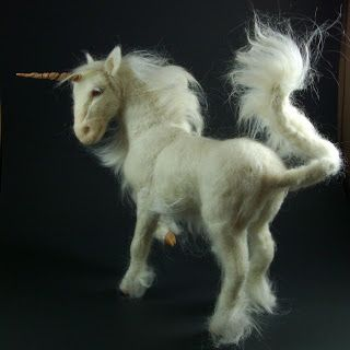 unicorn!  unicorn! cool needle felted animals.