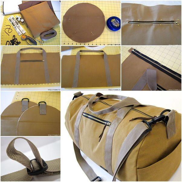 How to Make Safari Duffle Bag in Canvas tutorial and instruction. Follow us: www.facebook.com/fabartdiy