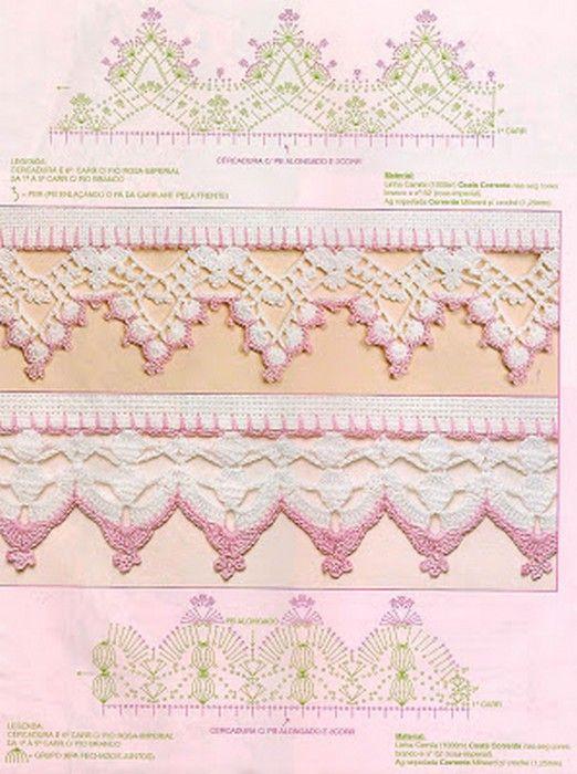 523 best bordures au crochet images on pinterest crochet patterns crochet edgings and crochet. Black Bedroom Furniture Sets. Home Design Ideas