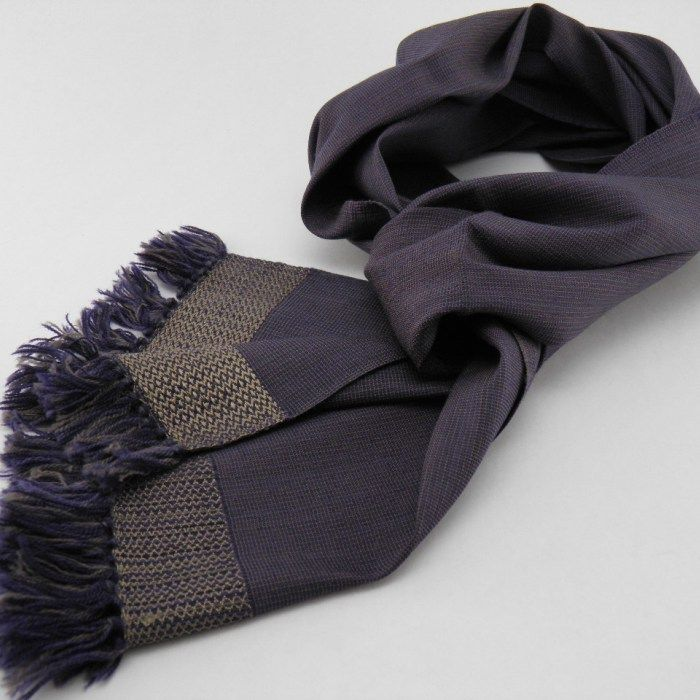 Men's Winter Fashion Wool and Silk Scarf - Bronze stylish 100% blended of high end scotish wool and fine cambodian silk handwoven, ethical and eco-friendly.