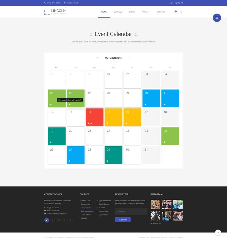 Event plays an important role and somehow indispensable for every education-related website. Along the line of offering event custom post type, we also feature the ticket selling for single event to bring the best interaction between your website and users.  #Event #Calendar #Integration #WordPress #Theme