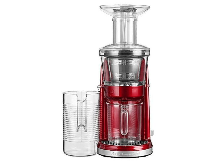 KITCHENAID ARTISAN Maximum Extraction juicer 5KVJ0111 candy apple http://juicymaker.com/best-juicers-guide/benefits-of-juicing-once-a-day/juice-cure-list-recipes/