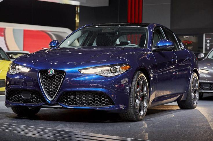 """The Giulia Ti in Montecarlo Blue. #NYIAS #Giulia #AwakenTheDrive #Alfa #AlfaRomeo #SportsCar #SuperCar #ItalianCar #ItalianStyle #Italian #Drive #Auto…"""