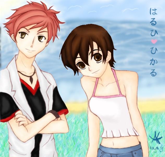 Ouran High School Host Club. Hikaru_X_Haruhi The perfect couple!