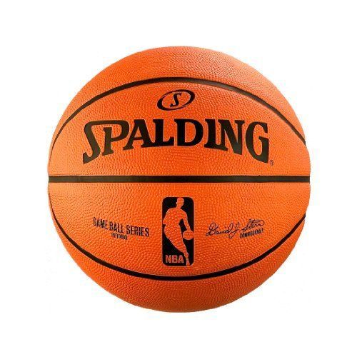 Spalding NBA Replica Indoor/Outdoor Game Ball, Orange, Size 29.5-Inch