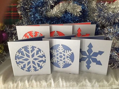 Snow Flake Christmas Card Pack *with flair* – Swank Creations