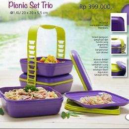 Picnic set trio tupperware bogor katalog tupperware for Kitchen set bogor