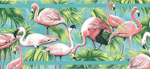 flamingo wallpaper for walls Tropical Pink Flamingo