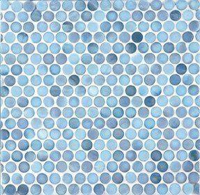 blue glass penny round tiles bathroom kitchen