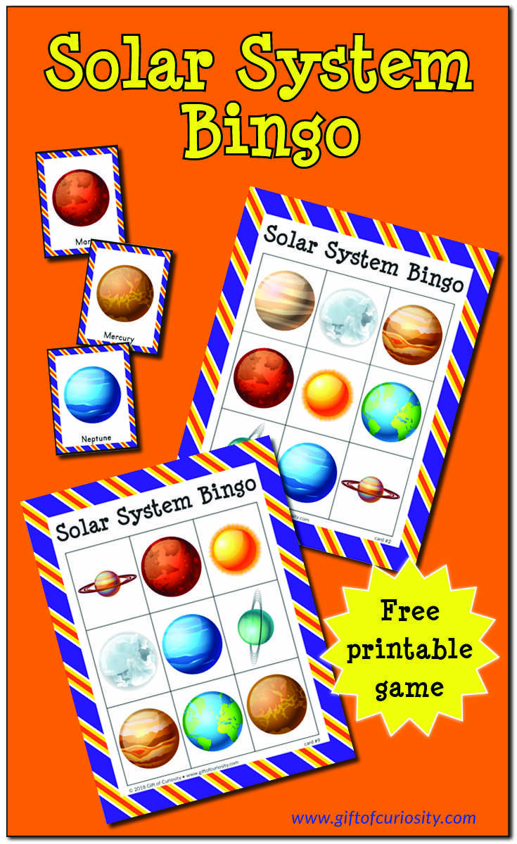 Solar System Bingo | Solar system projects for kids, Space ...