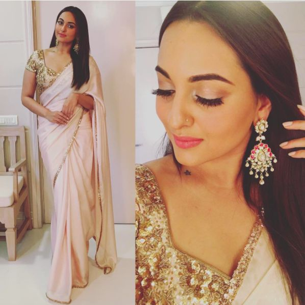 Sonakshi Sinha looked beautiful at Rohit Sharma's wedding.