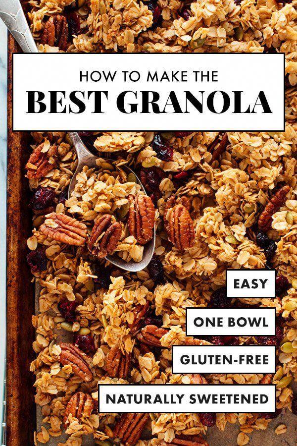 Healthy Granola Recipe Best Granola Food Recipes Healthy Snacks