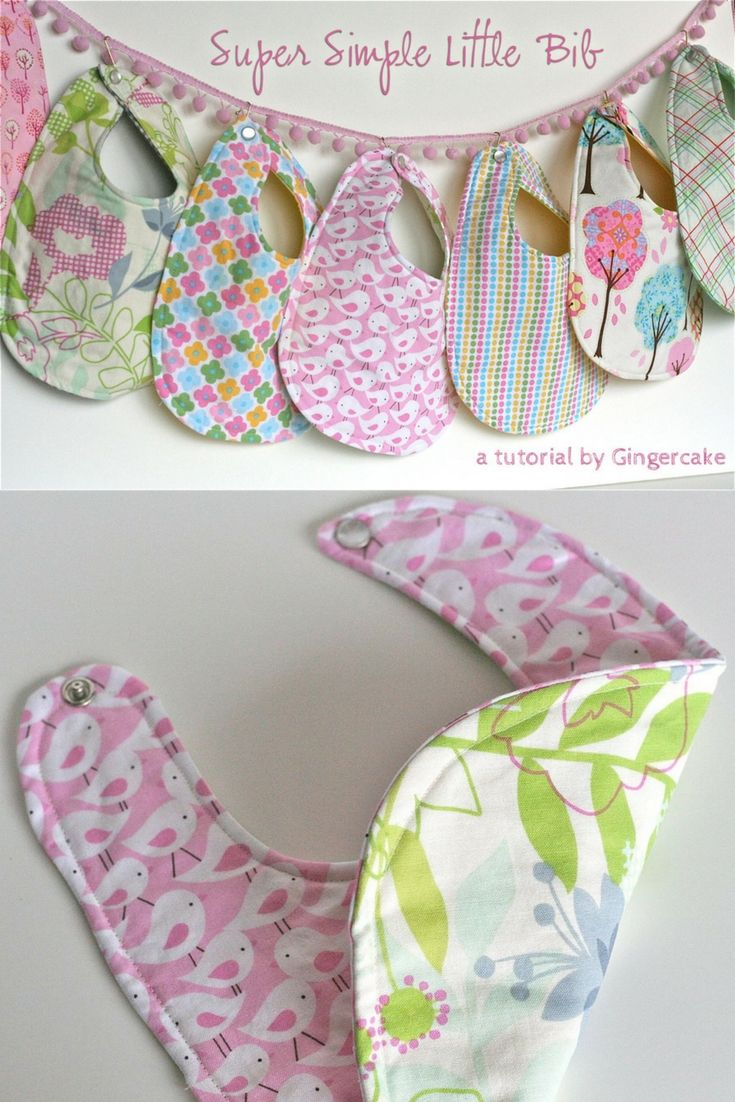 These bibs are quick and easy to sew.  Perfect to make for baby showers or make …