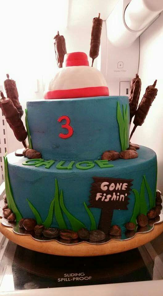 The 25 best fishing birthday cakes ideas on pinterest for Gone fishing cake