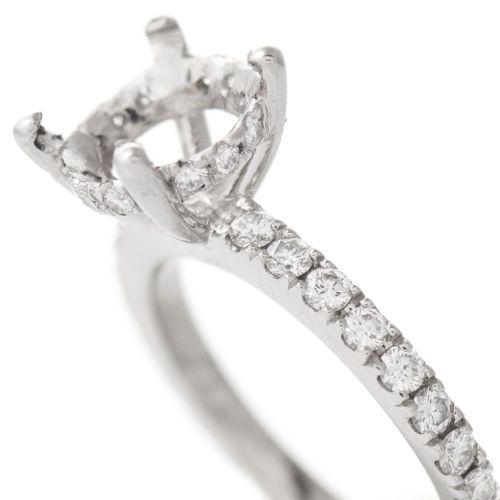 Diamond-Engagement-Ring-Setting-Mounting-Mount-Platinum-Hold-8-2mm-Size-4-5