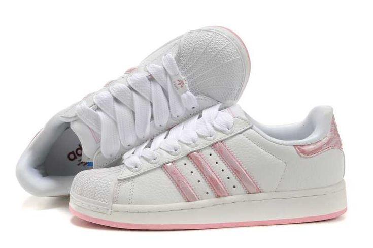adidas originals superstar 2 white/pink womens trainers