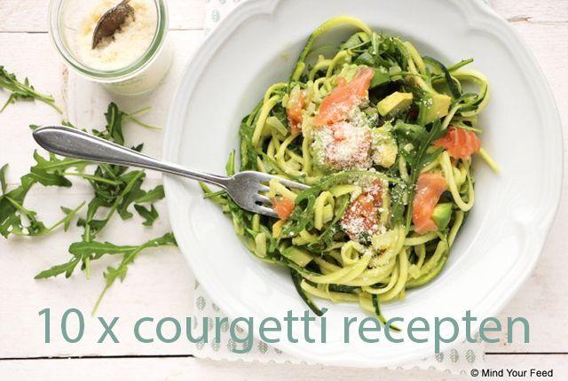 Het is onwijs makkelijk te maken, super gezond en gewoon heel lekker: courgetti, ofwel spaghetti van courgette. Hier 10x een super lekker courgetti recept!