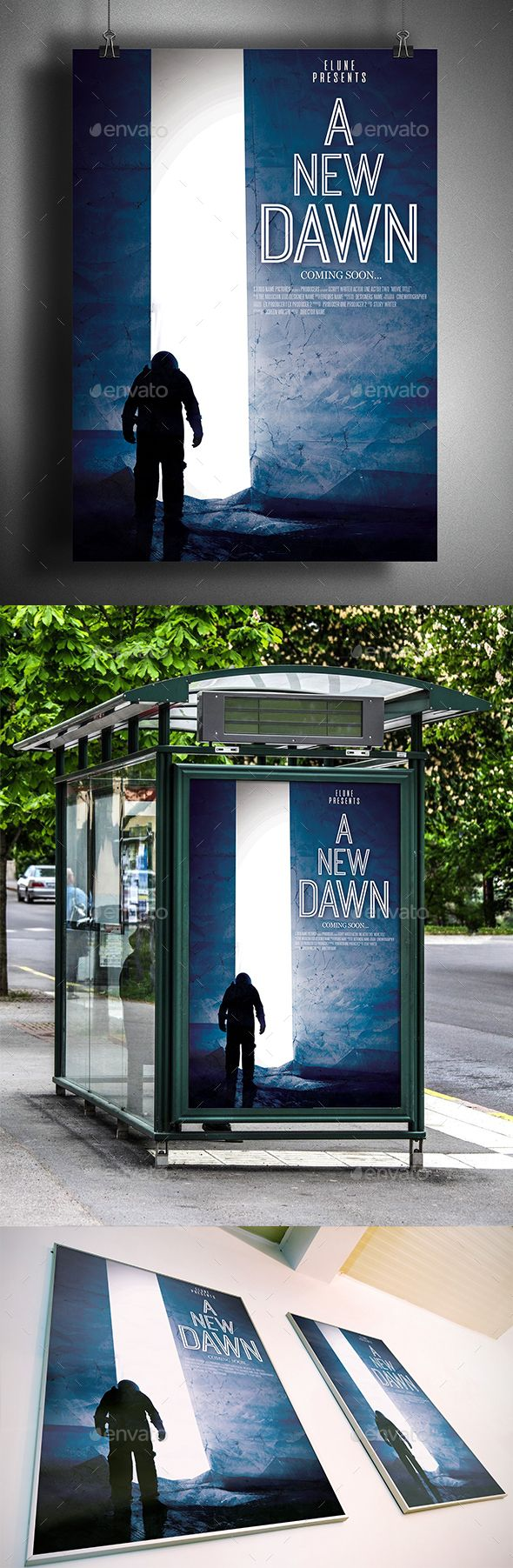 A New Dawn Movie Poster Template - Miscellaneous Print Templates