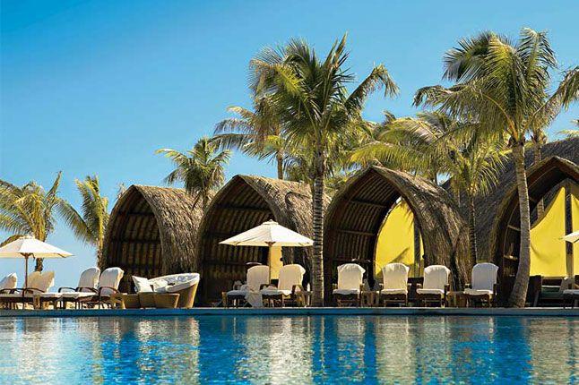 A pool at the Four Seasons Bora Bora.