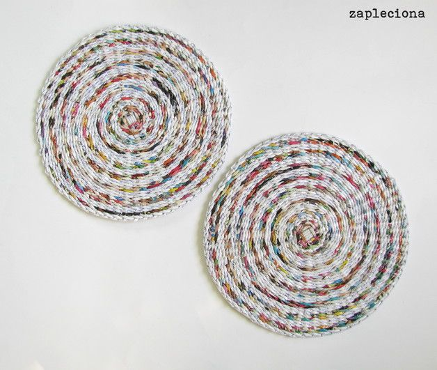 Podkładki na stół Strips - zestaw - zapleciona - Podkładki i serwetki