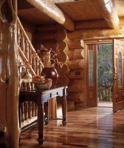 Beautiful Log home entry! #loghome #entry www.HomeChannelTV.com
