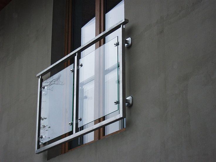 Balustrada zewn�trzna, stal nierdzewna, szk�o bezpieczne � Grodzisk Mazowiecki