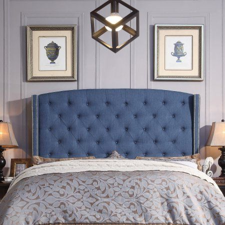 Alton Furniture Lucia Upholstered Wingback Headboard  Queen Navy  Blue. 17 best ideas about Navy Blue Furniture on Pinterest   Blue