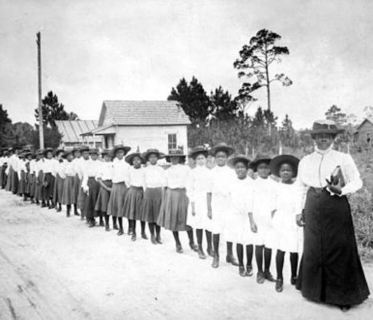 """""""Imani"""" is the 7th principle of #Kwanzaa, which represents #Faith!  Mary McLeod Bethune is the epitome of faith. She started a school from scratch with $1.50 to her name - $1.50! She said with faith, nothing is impossible, without faith nothing is possible!""""   This image is the honorable, Ms. Bethune with girls from the Literary and Industrial Training School for Negro Girls in Daytona, c. 1905. #Bethunecookman #selfdetermination #creativity #love ❤️ #BlackLove #Blackisbeautiful…"""