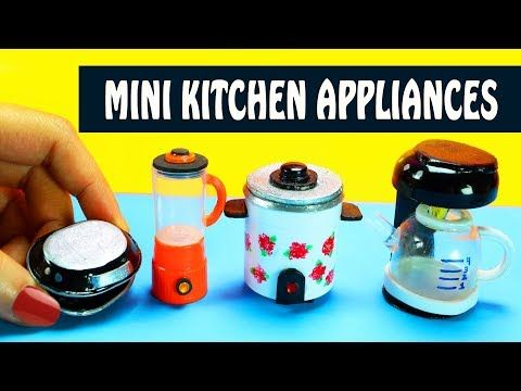 5 DIY Miniature Kitchen & Home Appliances - Easy doll Crafts - Simplekidscrafts - YouTube