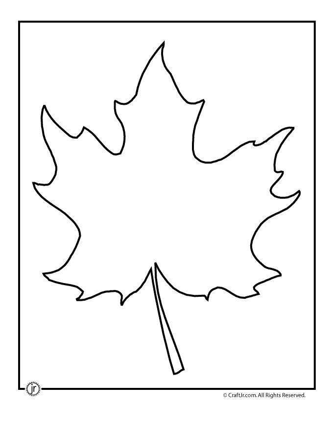 Leaf Template Printables Maple Leaf Template 2 – Craft Jr.