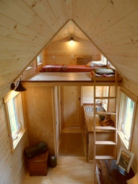 tiny house on wheels by oregon cottage company 14 450x600 ynez tiny house on wheels by - Small House On Wheels