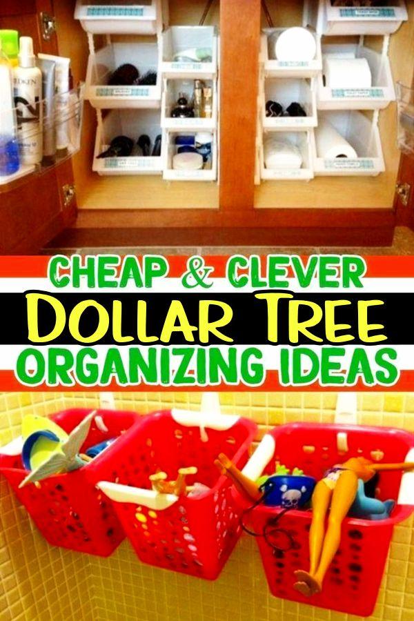 Awesome Dollar Store & Dollar Tree Organization Hacks for