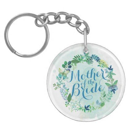 Mother of the Bride Watercolor Keychain - accessories accessory gift idea stylish unique custom