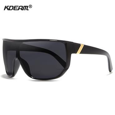 286c3959ca KDEAM Mens Goggle Big size Sport Sunglasses Flat top Frame Women Sun Glasses  Windproof Glasses UV400