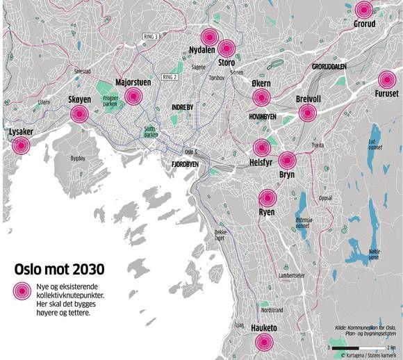 Oslo skal bli høyere, tettere og grønnere - osloby